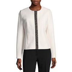 Liz Claiborne Boucle Jeweled Jacket