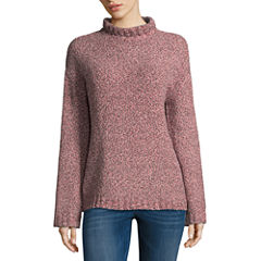 St. John's Bay Long Sleeve Cowl Neck Pullover Sweater