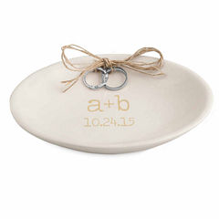 Cathy's Concepts Accented Personalized Wedding Ring Dish