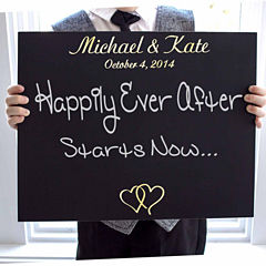 Cathy's Concepts Custom Ring Bearer Wedding Chalkboard Sign