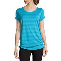 Made For Life Short Sleeve Scoop Neck T-Shirt-Womens Talls