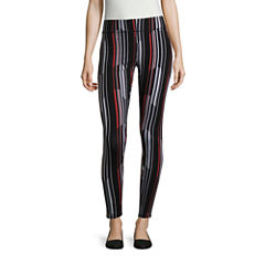 Mixit Abstract Stripe Print Knit Leggings