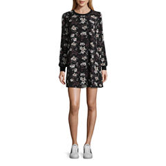 As U Wish Long Sleeve A-Line Dress-Juniors