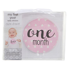 Okie Dokie Milestone Belly Stickers Baby Milestones - Girls