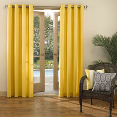 Sun Zero™ Batai Indoor/Outdoor Woven Solid Grommet-Top Curtain Panel