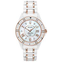 Bulova Womens Two Tone Strap Watch-98r241