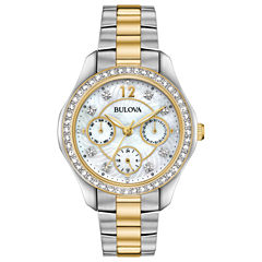 Bulova Womens Two Tone Strap Watch-98n114