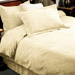 LCM Home Fashions Oversized Microsuede Saddle 3-Piece Duvet Cover Set