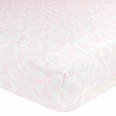 Just Born Pink Fitted Cotton Crib Sheet