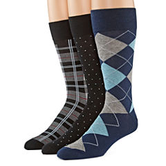 Stafford® 3-pk. Cotton-Rich Crew Socks–Big & Tall