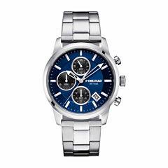 Head Match Point Mens Silver Tone Bracelet Watch-He-004-03