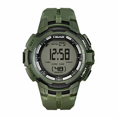 Head Super G Mens Green Strap Watch-He-104-04
