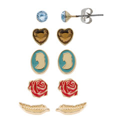 Disney 5 Pair Beauty and the Beast Earring Sets