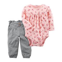 Carter's 2-pc. Floral Pant Set Baby Girls