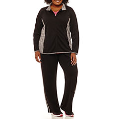 St. John's Bay Active® Mesh Track Jacket, V-Neck Graphic Tee, or Mesh Workout Pant-Plus