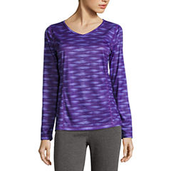 Made For Life Long Sleeve V Neck T-Shirt-Womens Talls