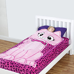 As Seen On TV ZippySack™ Kitty Fitted Fleece Blanket