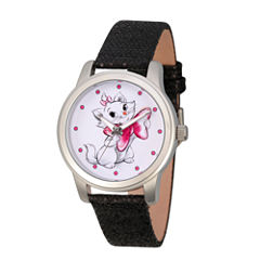 Disney Princess & The Frog Womens Black Strap Watch-Wds000349