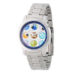 Disney Finding Nemo Womens Silver Tone Bracelet Watch-Wds000354