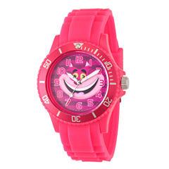 Disney Alice in Wonderland Womens Pink Strap Watch-Wds000362