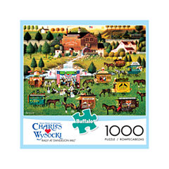 Buffalo Games Charles Wysocki - Rally at DandelionMill: 1000 Pcs