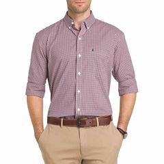 IZOD Advantage Performance Stretch Long Sleeve Gingham Shirt