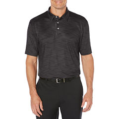PGA TOUR Short Sleeve Pattern Jersey Polo Shirt