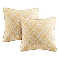 Madison Park Ella Printed Square Throw Pillow Pair
