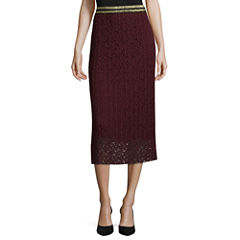Worthington Lace Pleated Skirt