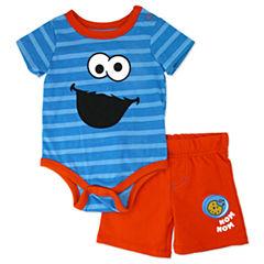 2-pc. Sesame Street Short Set Infant Boys