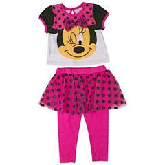2-pc. Minnie Mouse Legging Set-Infant Girls