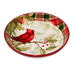 Certified International Winters Plaid Pasta Bowl