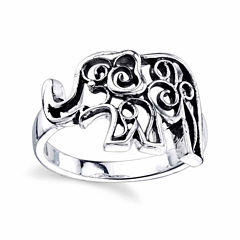 Footnotes Footnotes Womens Sterling Silver Cocktail Ring