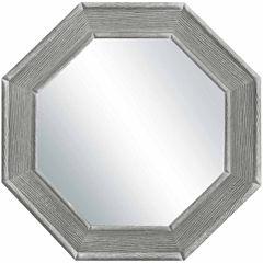 Rustic Grey Octagonal Mirror