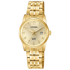 Citizen Quartz Womens Gold Tone Bracelet Watch-Eu6002-51q