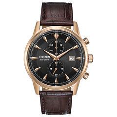 Citizen Mens Brown Strap Watch-Ca7003-06e