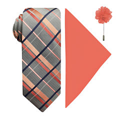 JF J.Ferrar Plaid Tie Set