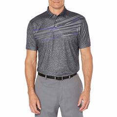 PGA TOUR Easy Care Short Sleeve Waves Polo Shirt