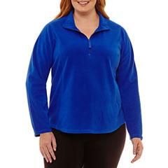 St. John's Bay Active Long Sleeve Half Zip Fleece-Plus
