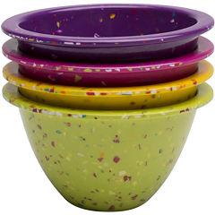 Zak Designs® Confetti Set of 4 Classic Prep Bowls
