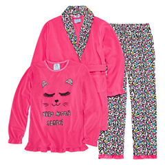 Baby Buns 3-pc. Pajama + Robe Sets Girls
