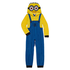 Despicable Me Minion Made Long Sleeve Minons One Piece Pajama-Big Kid Boys