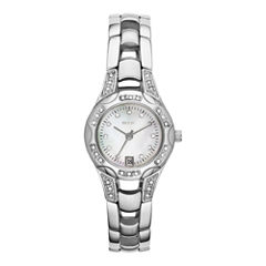 Relic® Charlotte Womens Silver-Tone Crystal-Accent Watch ZR12055