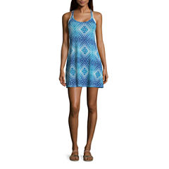 Porto Cruz Diamond Jersey Swimsuit Cover-Up Dress