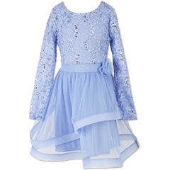 Speechless Embellished Long Sleeve Lace Sleeve Party Dress - Big Kid Girls