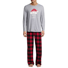North Pole Trading Co. Checkin' It Twice Flannel Pajama Set- Men's