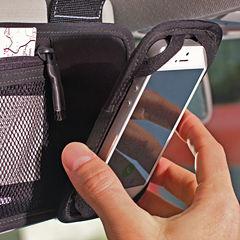 Hands-Free Phone Holder and Visor Organizer