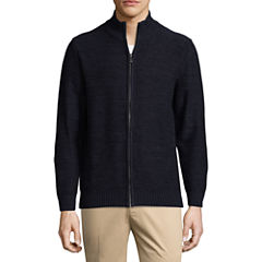 Haggar Mock Neck Long Sleeve Layered Sweaters