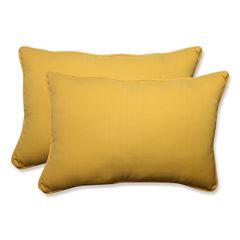 Pillow Perfect Forsyth Rectangular Outdoor Pillow- Set of 2