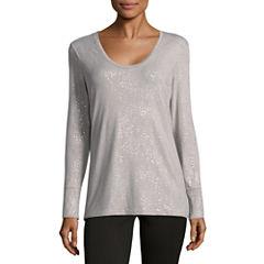 a.n.a Long Sleeve Scoop Neck T-Shirt